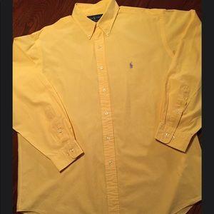 POLO Ralph Lauren Men XL-17 34/35 Button Up Yellow